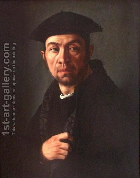 Portrait of a Man by Jacopino del Conte - Reproduction Oil Painting