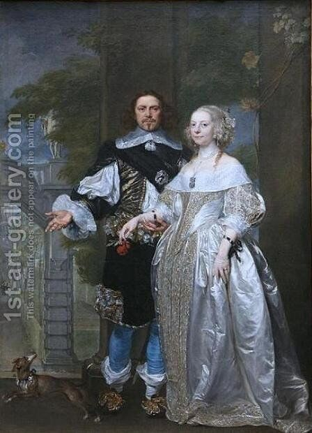 Lord Cavendish with His Wife Margaret in the Garden of Rubens in Antwerp by Rubens - Reproduction Oil Painting