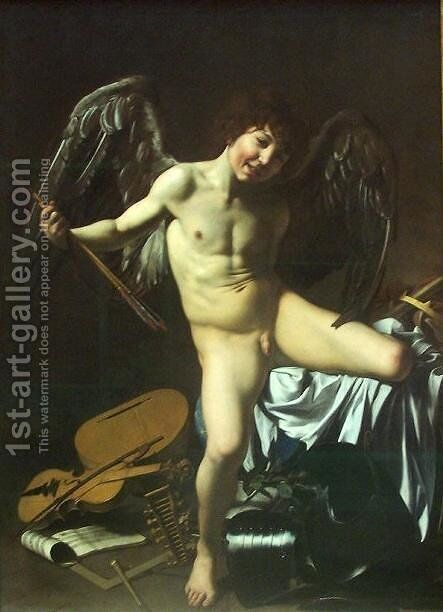 Victorious Cupid by Caravaggio - Reproduction Oil Painting