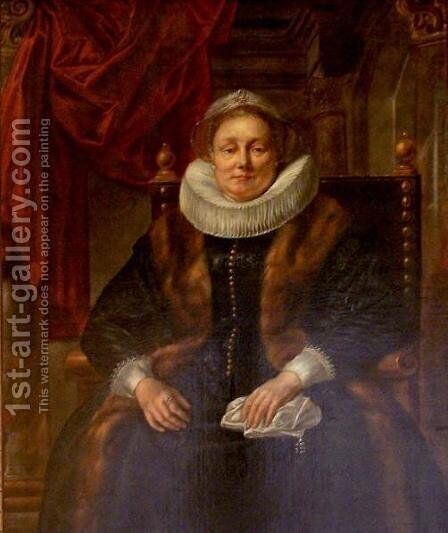 Portrait of an Old Lady by Jacob Jordaens - Reproduction Oil Painting