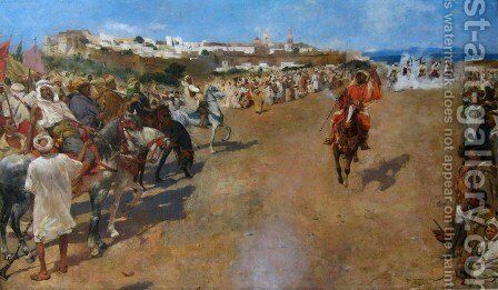 Arabian Fantasia by Theo van Rysselberghe - Reproduction Oil Painting