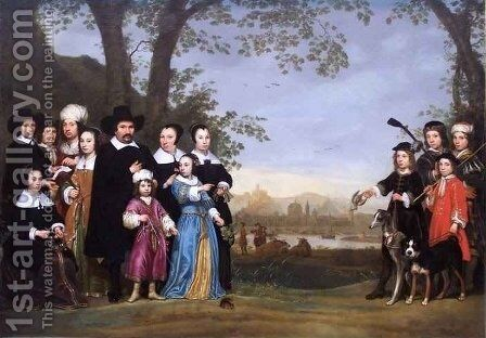 Portrait of a Family by Aelbert Cuyp - Reproduction Oil Painting