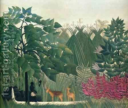 The Waterfall by Henri Julien Rousseau - Reproduction Oil Painting