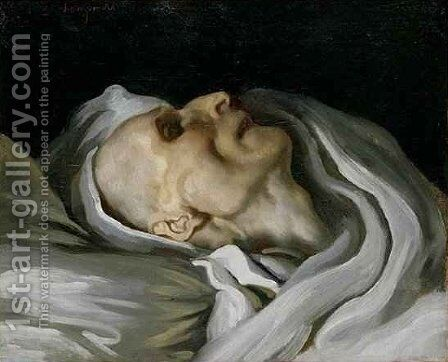 Study of a Head of a Corpse by Charles Emile Callande de Champmartin - Reproduction Oil Painting