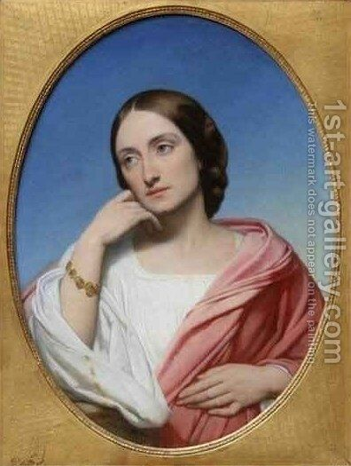 Mrs Robert Hollond Ellen Julia Teed by Ary Scheffer - Reproduction Oil Painting