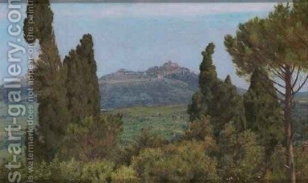The View of Montecelio from the Villa dEste Tivoli by Matthew Ridley Corbet - Reproduction Oil Painting