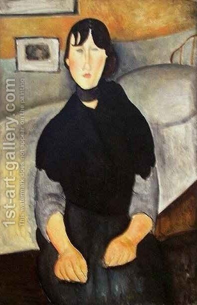 Young Woman of the People by Amedeo Modigliani - Reproduction Oil Painting