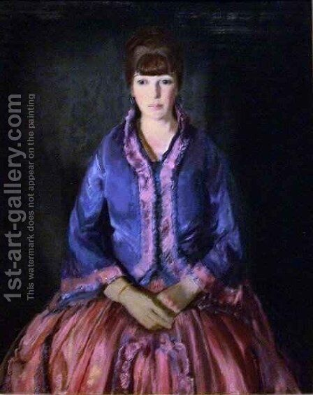 Emma in the Purple Dress by George Wesley Bellows - Reproduction Oil Painting