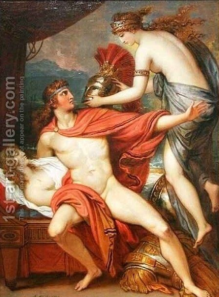Thetis bringing the Armor to Achilles 2 by Benjamin West - Reproduction Oil Painting