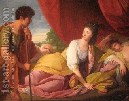Cymon and Iphigenia by Benjamin West - Reproduction Oil Painting