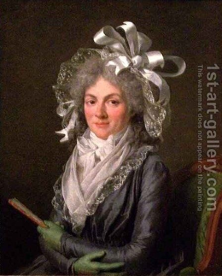 Portrait of Madame de Genlis by Adelaide Labille-Guyard - Reproduction Oil Painting