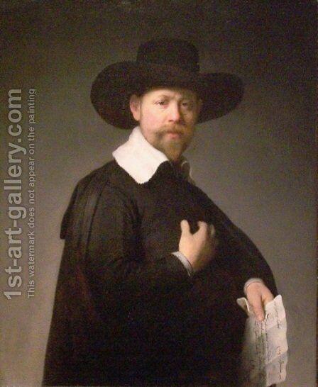 Portrait of Marten Looten by Rembrandt - Reproduction Oil Painting