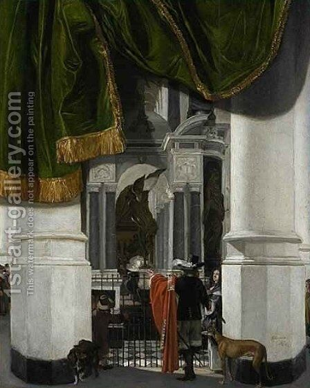 Interior of the Nieuwe Kerk in Delft with the Tomb of William the Silent by Emanuel de Witte - Reproduction Oil Painting