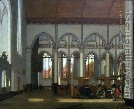 Interior of the Oude Kerk by Emanuel de Witte - Reproduction Oil Painting