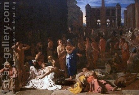Plague in an Ancient City by Michael Sweerts - Reproduction Oil Painting