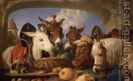 A Group of Animals Geneva 2 by Sir Edwin Henry Landseer - Reproduction Oil Painting