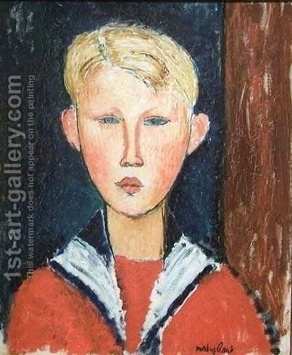 The Blue eyed Boy by Amedeo Modigliani - Reproduction Oil Painting
