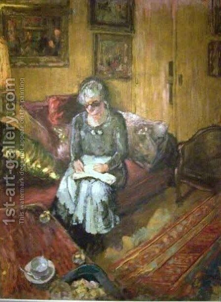 Madame Hessel in the Boudoir Rue de Naples 2 by Edouard  (Jean-Edouard) Vuillard - Reproduction Oil Painting
