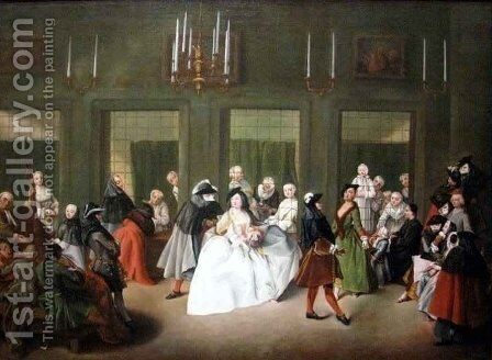 The Convent Parlor by Giuseppe Gobbis - Reproduction Oil Painting