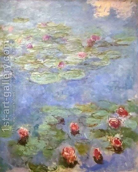 Water Lilies 44 by Claude Oscar Monet - Reproduction Oil Painting