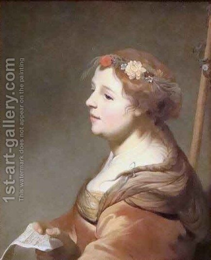 A Shepherdess by Jacob Adriaensz Backer - Reproduction Oil Painting