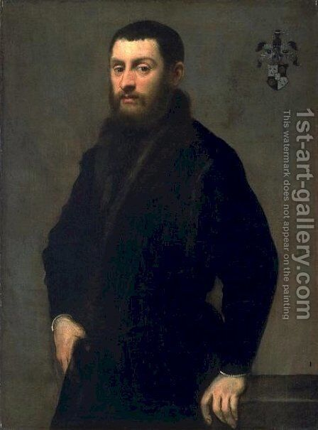 Young Man from the Renialme Family by Jacopo Tintoretto (Robusti) - Reproduction Oil Painting