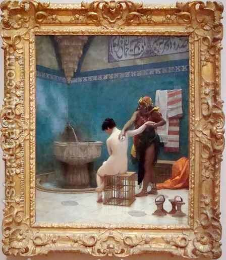 The Bath 2 by Jean-Léon Gérôme - Reproduction Oil Painting