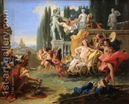 The Empire of Flora by Giovanni Battista Tiepolo - Reproduction Oil Painting