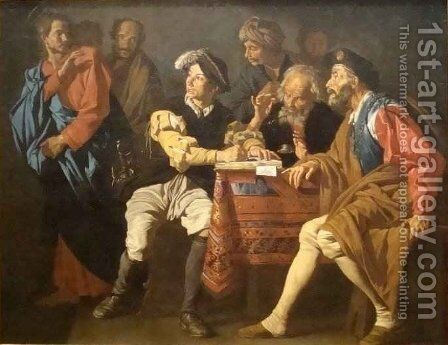 The Calling of St Matthew by Matthias Stomer - Reproduction Oil Painting