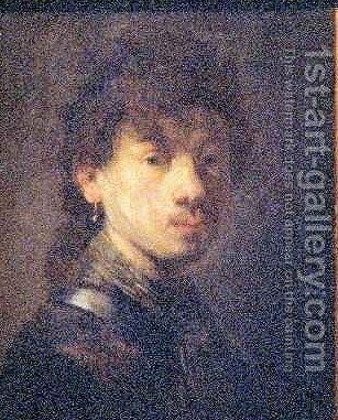 Self Portrait 3 by Rembrandt - Reproduction Oil Painting