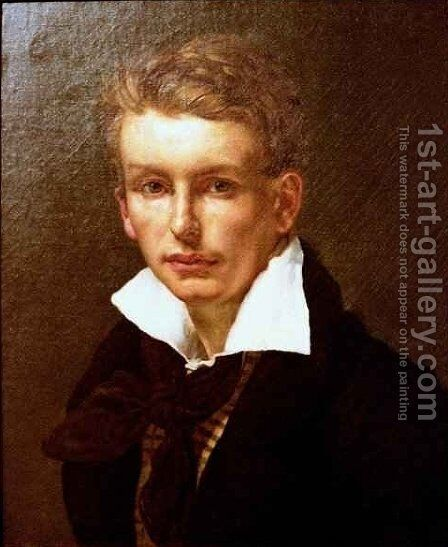 Portrait of a Young Man 2 by Theodore Gericault - Reproduction Oil Painting