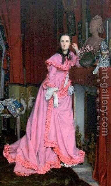 Portrait of the Marquise de Miramon nee Therese Feuillant by James Jacques Joseph Tissot - Reproduction Oil Painting