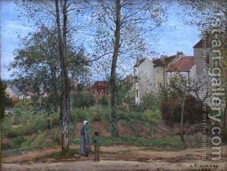 Houses at Bougival Autumn by Camille Pissarro - Reproduction Oil Painting