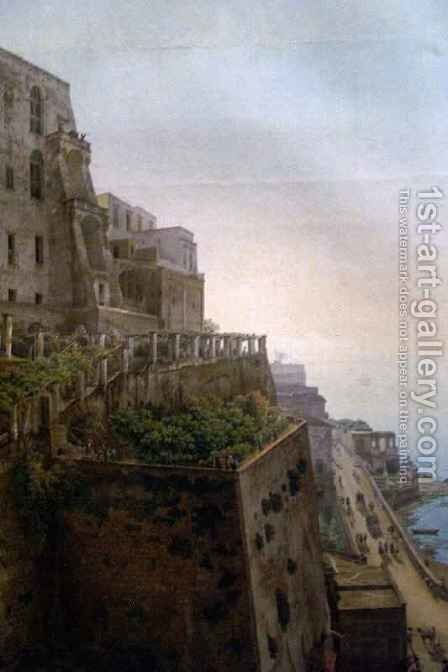 View of the Bay of Naples detail 3 by Giovanni Battista Lusiere - Reproduction Oil Painting