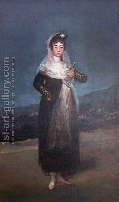 Portrait of Marquesa Santiago by Goya - Reproduction Oil Painting