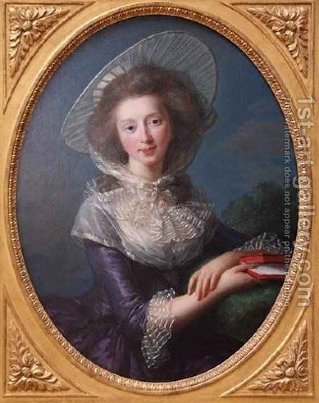 The Vicomtesse de Vaudreuil by Elisabeth Vigee-Lebrun - Reproduction Oil Painting