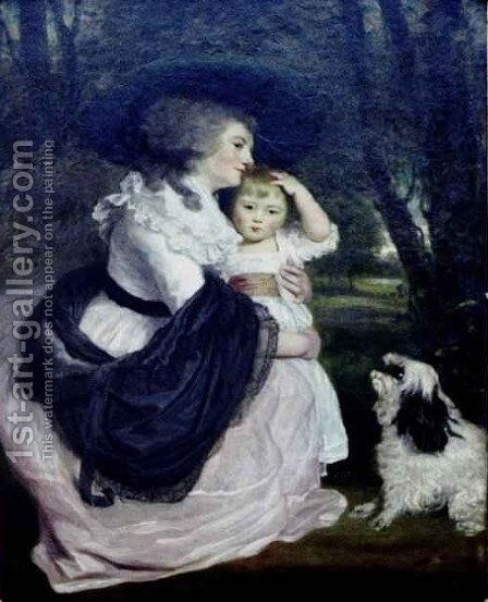 Countess Spencer and Her Son John by Sir Joshua Reynolds - Reproduction Oil Painting