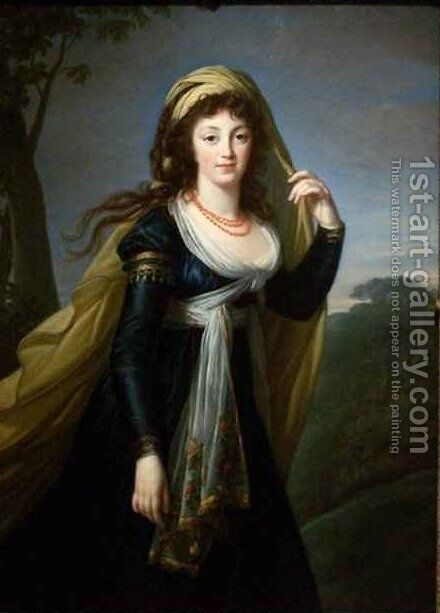 Portrait of Theresa Countess Kinsky by Elisabeth Vigee-Lebrun - Reproduction Oil Painting