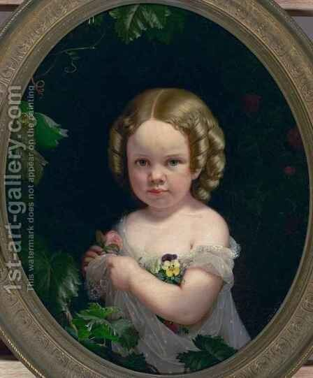 Portrait of Miss Adele Merchant by Charles Christian Nahl - Reproduction Oil Painting