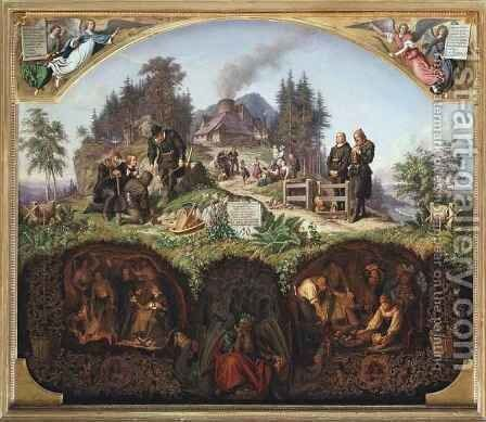 Allegory of the Mines by Theobald Reinhold von Oer - Reproduction Oil Painting
