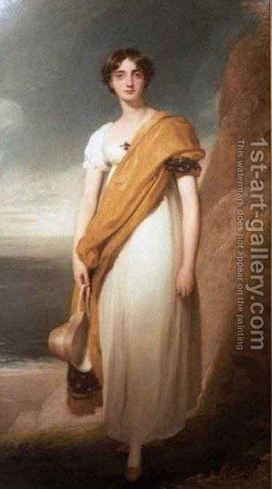 Lady Marie Oglander by Sir Thomas Lawrence - Reproduction Oil Painting