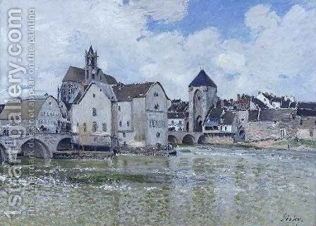 Le Pont de Moret by Alfred Sisley - Reproduction Oil Painting