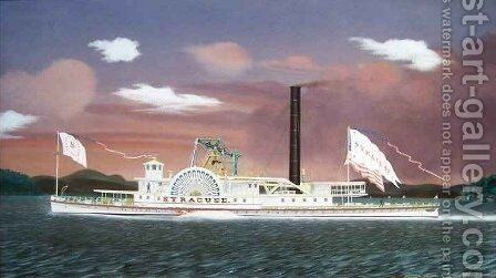 The Steamship Syracuse by James Bard - Reproduction Oil Painting