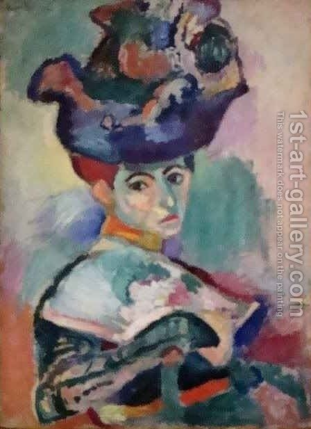 Woman with a Hat by Henri Matisse - Reproduction Oil Painting