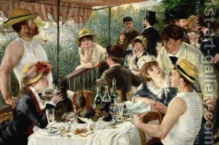 Luncheon of the Boating Party 2 by Pierre Auguste Renoir - Reproduction Oil Painting
