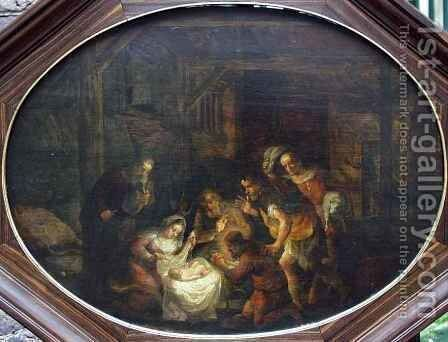 Adoration of the Shepherds by David Colijns - Reproduction Oil Painting