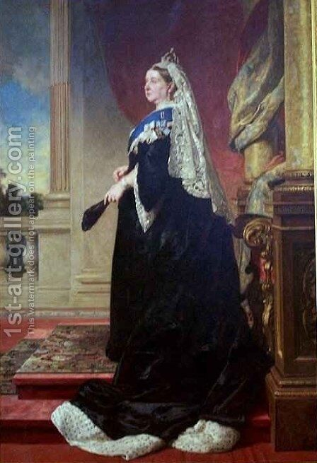 Queen Victoria 2 by Baron Heinrich von Angeli - Reproduction Oil Painting