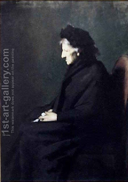 Mme Sraphin Henner by Jean-Jacques Henner - Reproduction Oil Painting