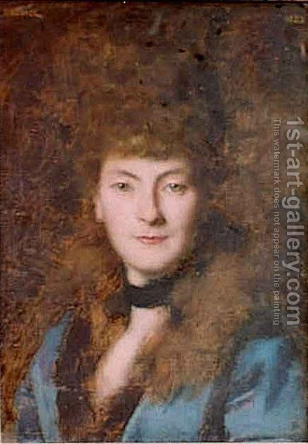 Mme Charles Rabot by Jean-Jacques Henner - Reproduction Oil Painting