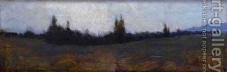 View of Bernwiller in the Woods by Jean-Jacques Henner - Reproduction Oil Painting